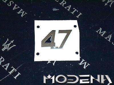 Emblem Slogan Sign 4.7 Characters Maserati GranCabrio GranTurismo QP S GTS 4,7