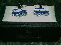 MENS CUFFLINKS with MINI CAR IDEAL FOR FATHERS DAY CHRISTMAS