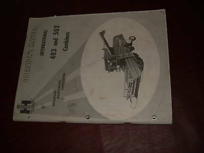 Case International Combine Operatiors Manual 403 503