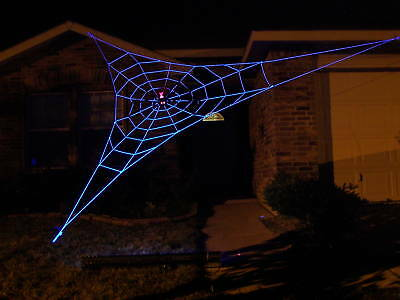 20' Almost GIANT GlowWeb Rope Spider Web Halloween House Yard Prop - Giant Halloween Spiders