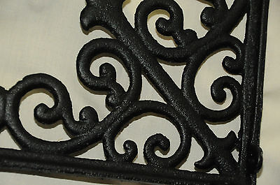 NEW (1) LG Tuscan Blk Iron Corbel shelf bracket counter top support cornices ()