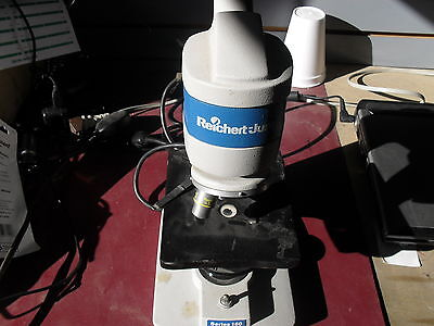 Reichert Jung Series 160 Microscope W 2 Objective Lenses