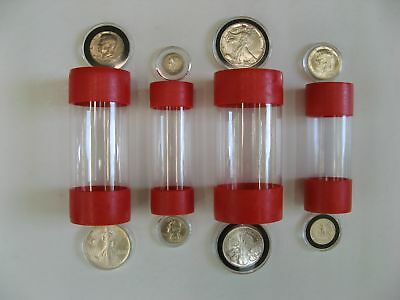 4 Sizes Cap-Tube - Tite Airtite Coin Holder Bullion Quarter Dollar Silver Eagle