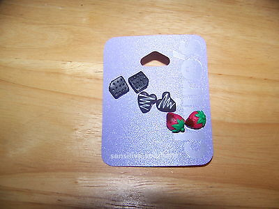 (Name Brand 3 Pr Chocolate Dipped Strawberries, Graham Crackers, Cookie Earrings)