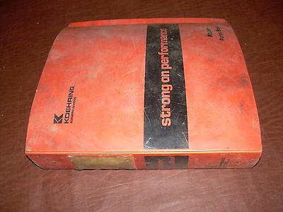 Koehring 1166 E Hydraulic Excavator Parts Manual Catalog