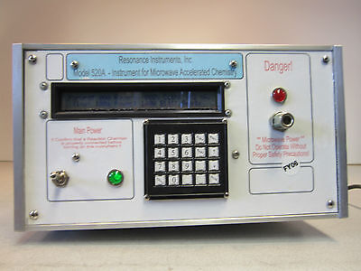 Resonance Instruments Microwave Generator 520a Powers On Priced To Sell