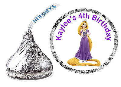 108 RAPUNZEL TANGLED BIRTHDAY PARTY FAVORS ~ HERSHEY KISS KISSES - Rapunzel Favors
