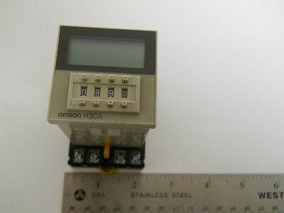 H3ca-8h Omron Digital Timer H3ca8h W P2cf-08 Socket Din Rail Mount