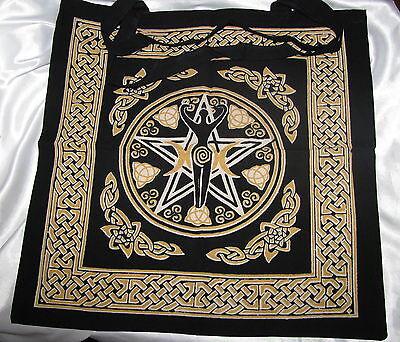 Pentagram Goddess Tote Bag Wicca Pagan Goddess Tote Bag