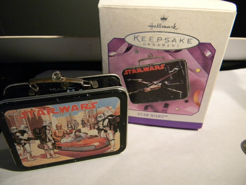 Hallmark 1998 Pressed Tin Star Wars Lunch box Keepsake Ornament  (2363)