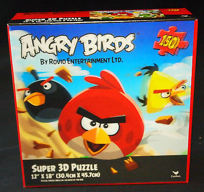 ANGRY BIRDS PUZZLE 150 PIECES IN SUPER 3-D - FACTORY SEALED - NEW IN BOX