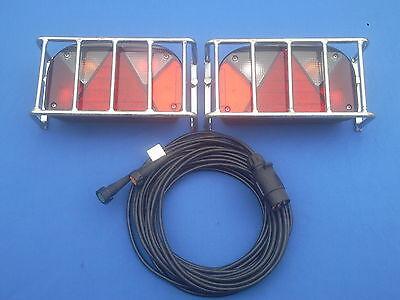 PKW Anhänger Rückleuchten  Komplettsatz mit Stecker, Beleuchtung ,Anfahrschutz ()