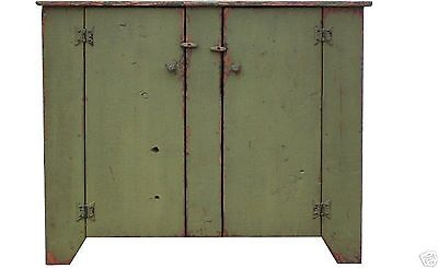 JELLY CUPBOARD CABINET PRIMITIVE COUNTRY PAINTED FURNITURE RUSTIC PINE - Pine Painted Furniture