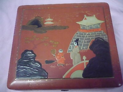 Beautiful, Old Wooden Box __Lacquer Painting__ 19, 5cm