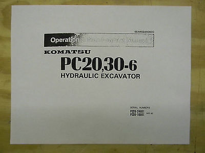 Komatsu Pc20 Pc30-6 Operation Maintenance Manual