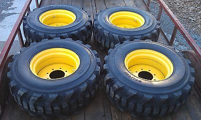 4 New 14-17.5 Skid Steer Tires Rims For New Holland - 14 Ply Rating - 14x17.5