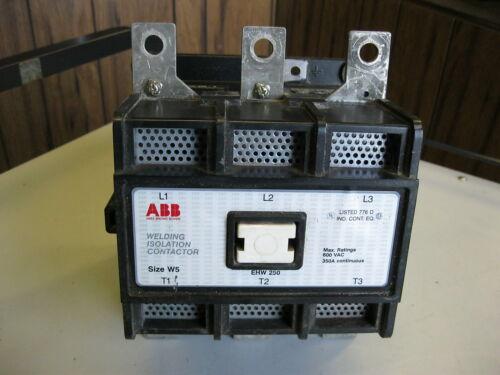 ABB EHW250 Contactor 350 Amp, 3 Pole