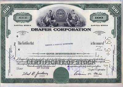 Draper Corporation Stock Certificate Maine