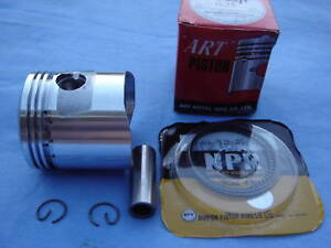 HONDA CT90 S90 STANDARD PISTON KIT MADE IN JAPAN (RINGS INSTALLED)