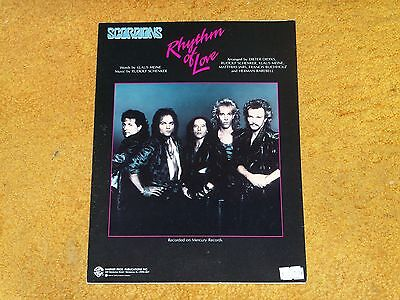 Scorpions sheet music Rhythm of Love 1988 6 pages (NM shape)