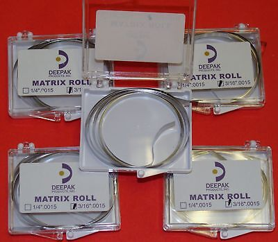 Dental Band Matrix Roll 316.0015 Kit 5 Rolls Ehros