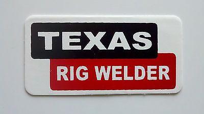 3 - Texas Rig Welder Roughneck Hard Hat Oil Field Tool Box Helmet Sticker