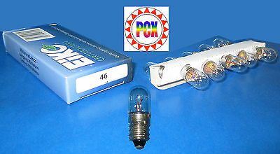 #46 Miniature Lamp - Box of 10 #46 bulbs