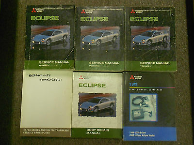 2000 MITSUBISHI ECLIPSE Repair Shop Service Manual Set FACTORY DEALERSHIP OEM x