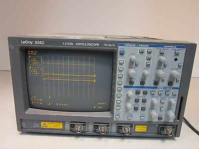 Lecroy 9362 1.5ghz 2 Channel 10 Gss Oscilloscope Includes 3 Interface Cards
