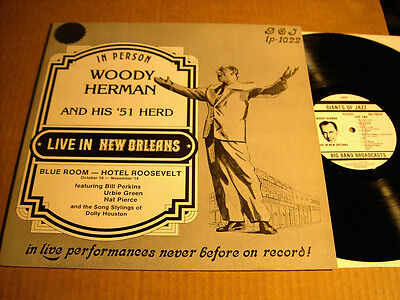 WOODY HERMAN AND HIS '51 HERD - LIVE IN NEW ORLEANS - LP - GIANTS OF JAZZ