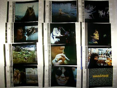 WOODSTOCK 1969 Rock Festival Film Cell Lot of 12 - collectible compliments movie