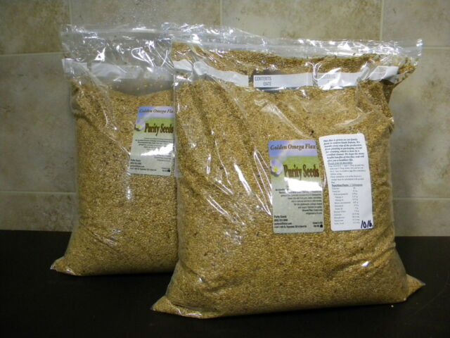 20 lbs. Purity Seeds Golden Omega Flax Seed flaxseed - 2-10 lbs bags