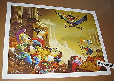 Carl Barks Kunstdruck: Menace out of the Myths - Scrooge, Donald Duck Art Print