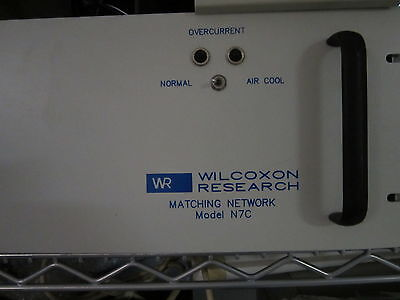 Wilcoxon Research N7c Matching Network Piezo Vibration Shaker Test Accelerometer