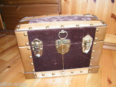 """12""""  Locking ~ Doll Trunk / Chest / Case ~ NEW ~ Perfect for American Girl Dolls"""
