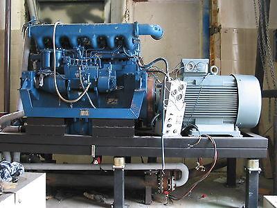 BHKW Blockheizkraftwerk ca.75kw el  Motor 6VD 14,5/12  Heizöl Pflanzenöl PÖL