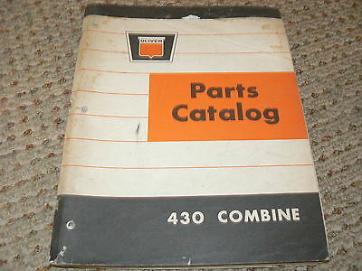 Oliver White Tractor 430 Combine Dealers Parts Book