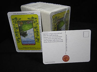 100 Lot Somersault Ale Field Beer Coasters Fat Tire New Belgium Brew Post Card