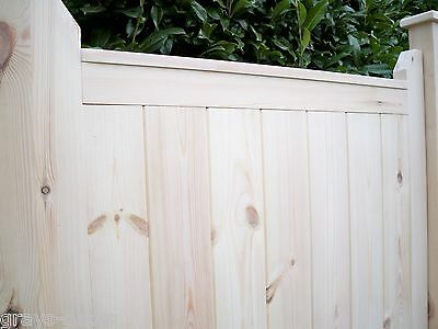 6' x 3' - 'SUPREME' Heavy Duty Panelled Wooden Garden Pedestrian Side Gate