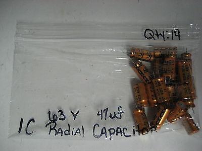Lot Of 19 New Ic Radial Resistors 63v 47uf Rzsm  M 105deg.c  Yk-17