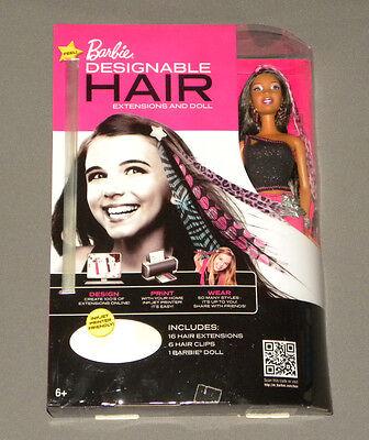 2011 Mattel Muñeca Barbie Con Impresión Designable Usable para Extensiones Negro