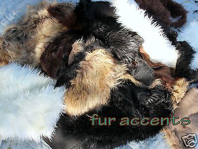 Plush Fur Rug Cutting Craft Samples Faux Fur Remnants Fabric Scraps  FIVE POUNDS