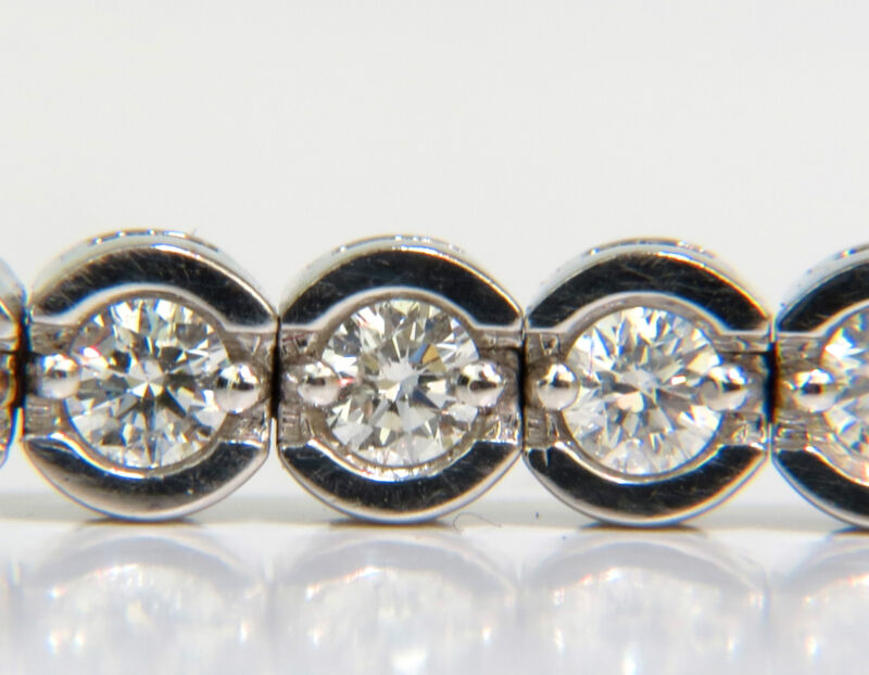4.30ct Round Diamonds Bracelet G Vs A+ Full Cuts 14kt+