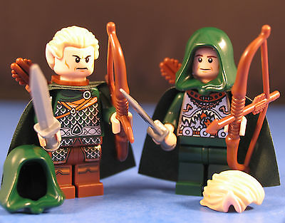 LEGO® LORD OF THE RINGS™ 2 ELF WARRIOR SET Custom Minifigures + THE POINTED EARS for sale  Shipping to India