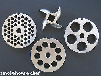 12 Meat Grinder Disc Plate Set And Knife For Hobart Lem Cabelas And Most Others