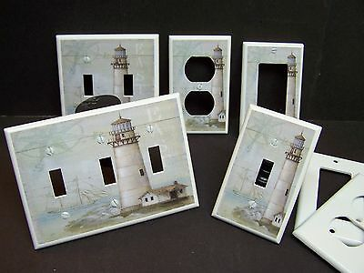 Lighthouse Light Switch Covers - LIGHTHOUSE NAUTICAL #3   LIGHT SWITCH COVER PLATE OR OUTLET COVER