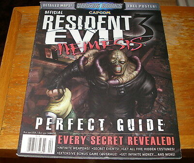 RESIDENT EVIL 3 NEMESIS Official Perfect Guide from Versus Books with poster