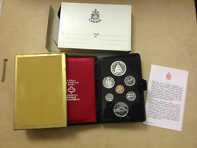 1976 Canada Prestige 7 coin Double Dollar set, COA with silver dollar