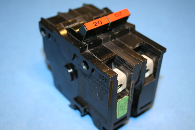 FEDERAL PACIFIC / AMERICAN BREAKER 20 AMP 2-POLE TYPE NA WIDE
