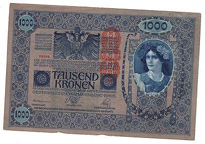 AUSTRIA 1902 TAUSEND KRONEN CURRENCY BANKNOTES NICE LOOK!! (X1562)